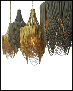 High Thorn Leather Chandeliers Pendants Handmade In